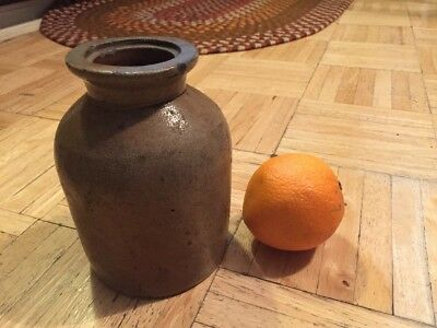 Mid 19th Century Stoneware Canning Jar Nice Small Size & Flared Lip