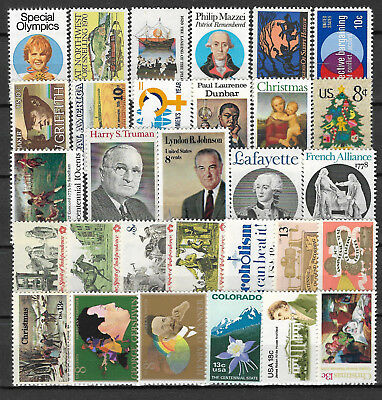 UNITED STATES USA STAMP COLLECTION PACKET of 30 DIFFERENT Stamps MNH (Lot 2)