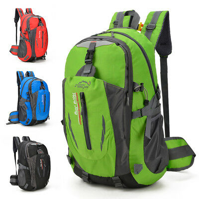 40L Large Waterproof Outdoor Sports Backpack Travel Hiking Camping Rucksack Bag
