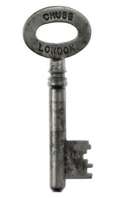 "Vintage CHUBB DETECTOR Key 1¾"" - LONDON - ref.k536"