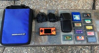 Game Boy Micro Nintendo OXY-001 Handheld System Console Bundle Lot Games Zelda