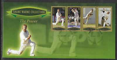 GRENADA 2007 SHANE WARNE - THE POWER Set 4v GOLD FDC