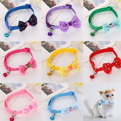 1PC Dog Cat Pet Bowknot Cute Bow Tie Bell Adjustable Puppy Kitten Necktie Collar