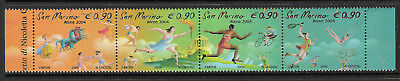 SAN MARINO 2004 ATHENS OLYMPIC GAMES Strip of 4 MNH