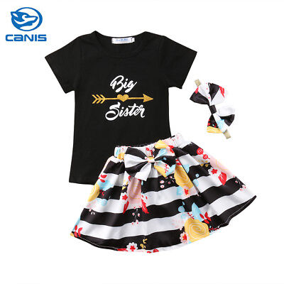 AU Toddler Kids Baby Girls Outfits Clothes T-shirt Tops+Dress Skirt 2PCS Set