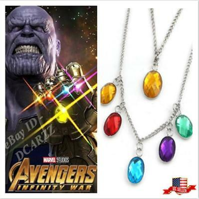 US! Avengers Infinity War Thanos Power Stones Necklace Cosplay Gifts PropJewelry