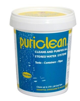 Puriclean Water Cleaner Purifier Powder 400g Treats 270Litres
