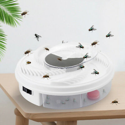 New Electric Fly Trap Device with Trapping Food -White USB Cable Insect Killer