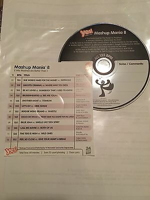 """""""Yes Fitness Music"""" Freestyle Group Fitness Music CD - Mash Up Mania 8"""