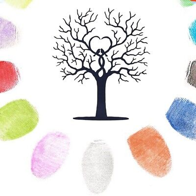 8 Patterns Tree Fingerprint Tree Wedding Guest Book Guestbook Craft Guest Books