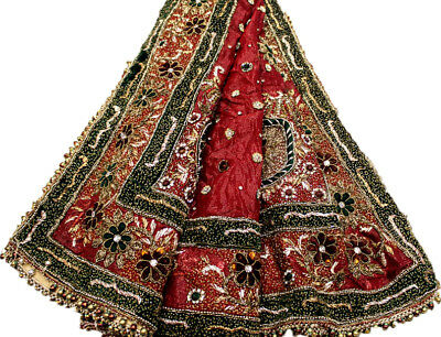 Vintage Heavy Dupatta Antique Women Bridal Long Scarf Embroidered Stole HD1079