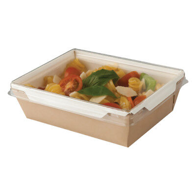 Medium Fuzione Tray & Plastic Lid Combo...  Salad / ready meal...... Pack 250