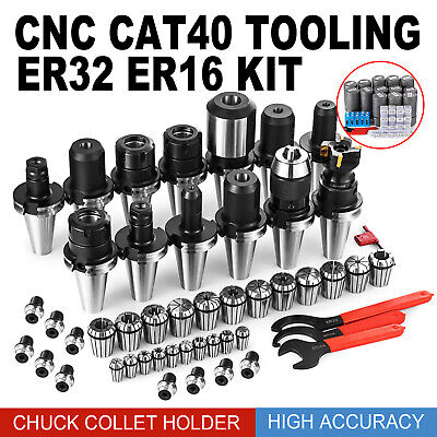 Cat40 Er32 Er16 End Mill Holders 35Pcs Collet Chuck New Tool Holder Chuck Tools