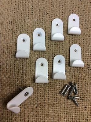 Clearance Lot810 Heavy Duty White Hanging Hooks Pictures Mirrors Screw In Walls