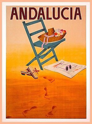 Andalucia Spain Europe Vintage Travel Advertisement Art Poster Print