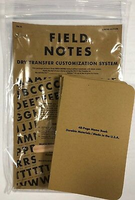 Field Notes Limited FNC-10 SPRING 2011 DRY TRANSFER Memo Books 3Pk, Sold Out