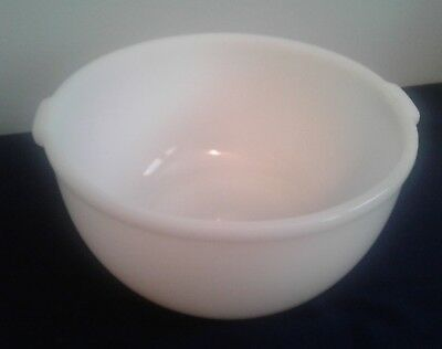 Vintage White Glasbake Sunbeam Mixing Bowl