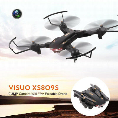 VISUO XS809S 2.4GHz 4CH Foldable Drone with Camera HD 2MP Wide Angle WIFI FPV