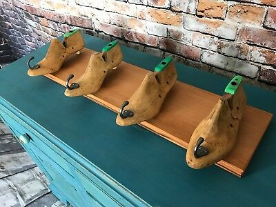 Beautiful Upcycled Vintage Cobbler Shoe Molds Shoe Lasts Coat Hanger