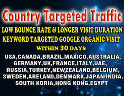 Bring unlimited web traffic targeted from Germany, Uk, Aus, France, USA, UAE