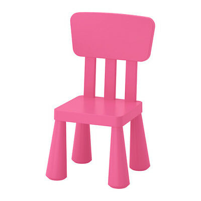 IKEA MAMMUT Children's Chair Pink Plastic Assembly Required NEW 803.823.21