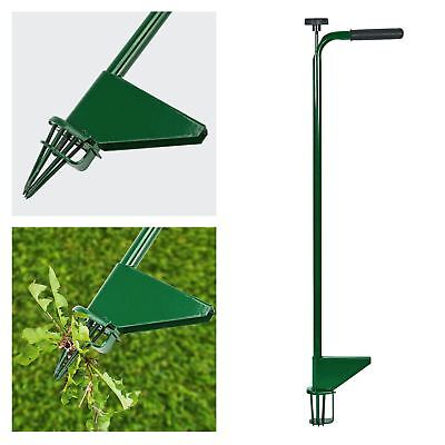 2 x Long Handle Robust Stainless Steel Garden Lawn Weed Puller Pulling Claw Tool