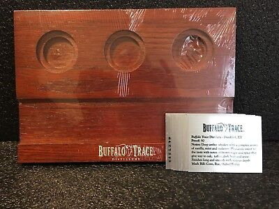 Buffalo Trace Wooden Flight Tray Caddy With Identification Cards New / Sealed