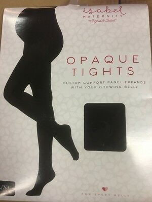 Ingrid Isabel Maternity Opaque Tights New Black L/xl Comfort Panel