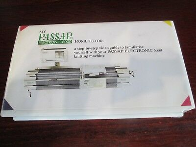 RARE PASSAP 6000 KNITTING MACHINE Home Tutor Step By Step Guide VHS Video Tape