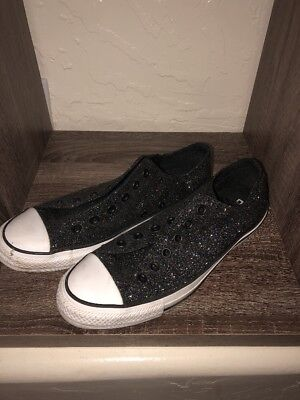 Converse All Star Low Top Women's Shoes Size 10 Black Glitter