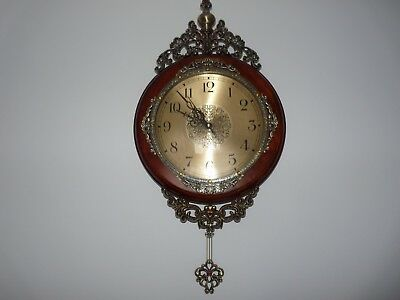 Attractive French Antique Style Wall Pendulum Clock New