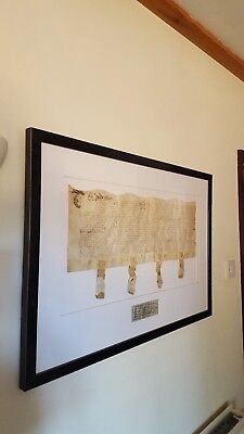 Original Antique William & Mary Dated 1690 Vellum with Seals Mounted & Framed
