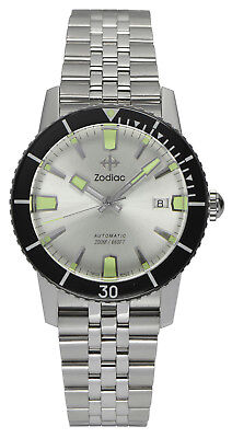 "Zodiac ZO9255 ""SUPER SEA WOLF 53 COMPRESSION"" Automatic Sapphire Crystal Watch"