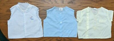Vintage Diaper Shirts  Set of 3  - Infant Boy