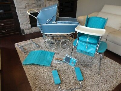 COMPLETE Vintage 1968 Rex Stroll-O-Chair Stroller System -MINT Condition