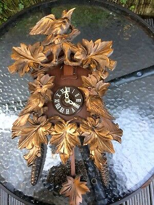 Vintage German Twin Weight Cuckoo Clock Spares & Repairs