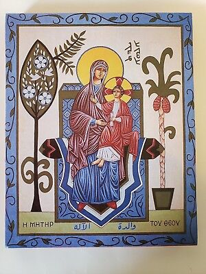 Theotokos and Christ, orthodox icon, size 7, 14/16 x 9, 12/16 inches