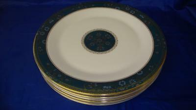 """Set of Eight (8) Royal Doulton Carlyle Dinner Plates 10 5/8"""" (Unused) 1st"""