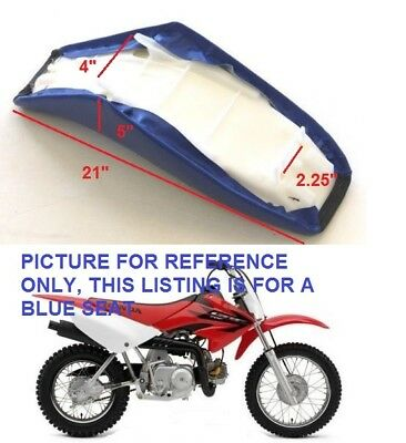"""Details about  Tall Gripper Seat Blue for Chinese Pit Dirt Bike 21"""" Long H SE37"""
