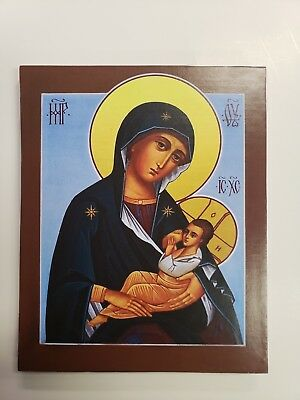 Mother of God the Nurturer , orthodox icon, size 7, 14/16 x 9, 12/16 inches