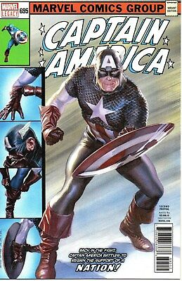 Captain America #695 (February 2018, Marvel) Legacy Alex Ross Mark Waid