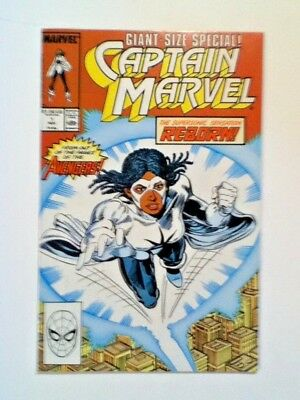 CAPTAIN MARVEL #1 REBORN Giant Size ! Nov.1989 OUT OF THE PAGES OF THE AVENGERS