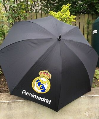 Large Real Madrid Golf umbrella - black - New With Tags