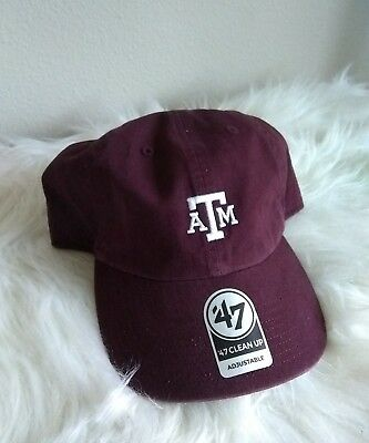 quality design cc795 533f4 Texas A M Aggies  47 Brand Clean Up Adjustable Hat Austin TX University