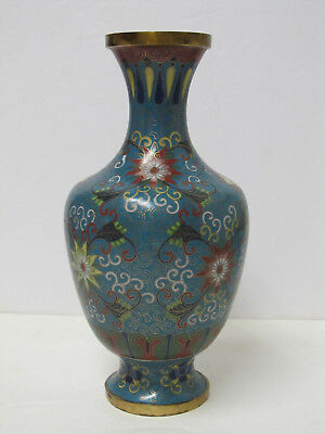 Fine Antique Chinese Floral Design Gold Gilt Cloisonne Vase