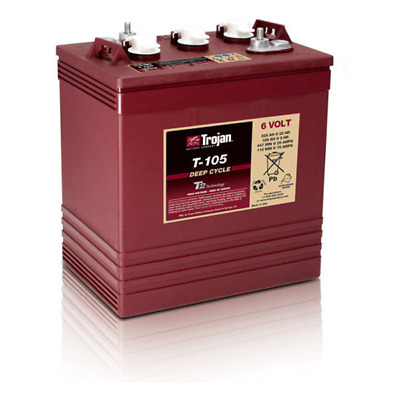 TROJAN T-105 6 Volt Deep Cycle Golf Batteries 225 Ah (Local Pickup Only)