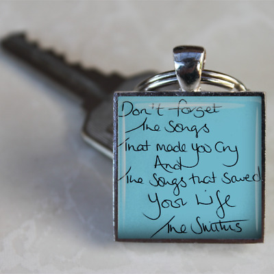 The Smiths Keyring Morrissey keyring lyrics smiths songs gift handmade unique