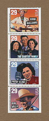 Scott #2775-78 Country & Western Music 29c (Booklet Pane of 4) 1993 Mint NH