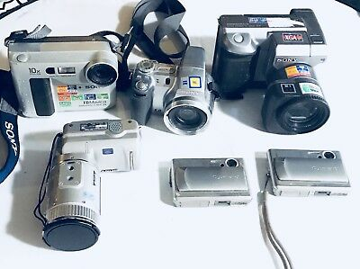 Lot Of 6 Sony Assorted Cameras For Parts