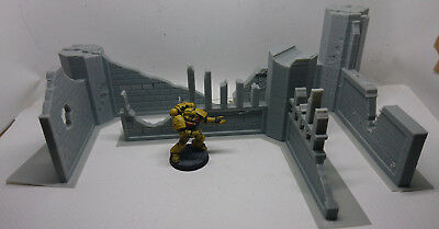 *SCENERY* Ruined Buildings 40K Warhammer Infinity Bolt Action